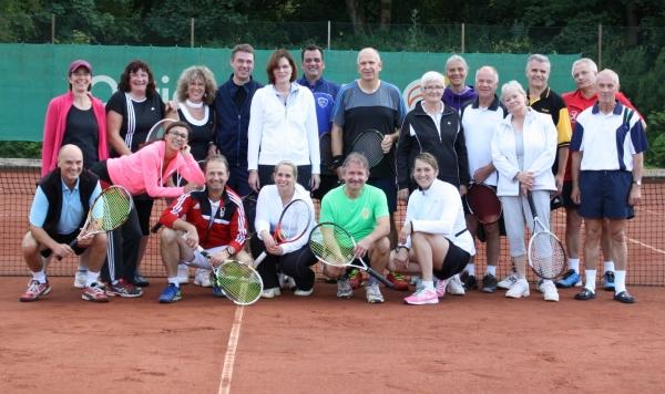 Teilnehmer der Mixed-Clubmeisterschaften 2015 beim TC GW Rotenburg